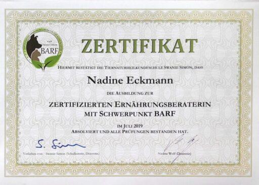 Zertifikat Barfberaterin